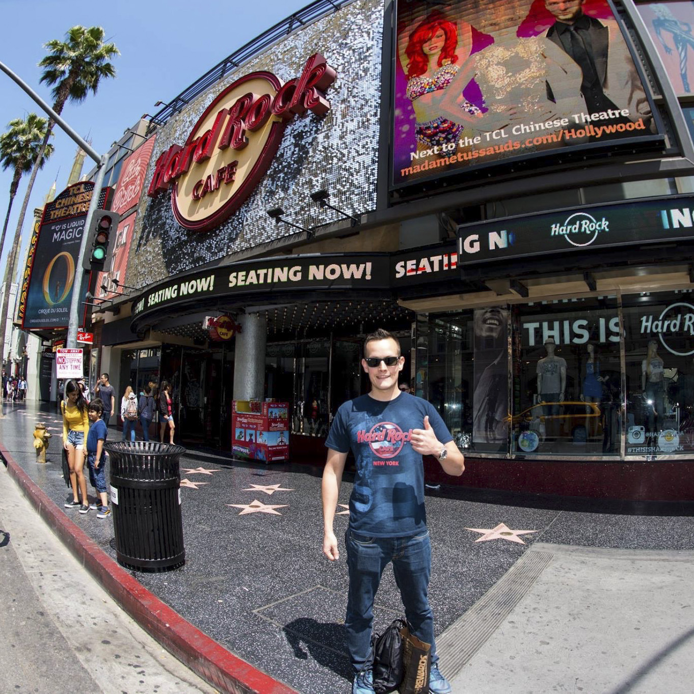 Hard Rock Cafe Hollywood on Hollywood Boulevard - visited in 2016