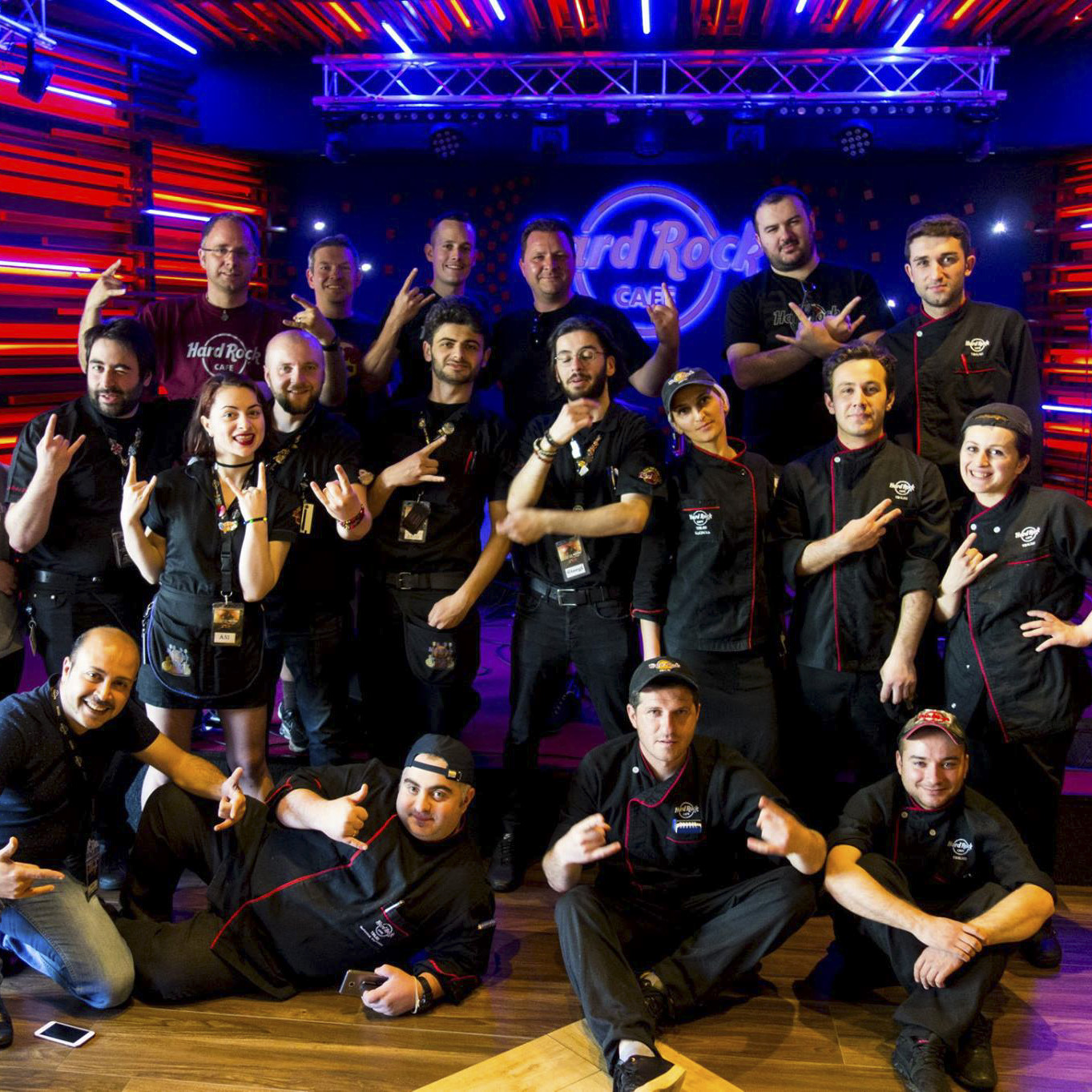 Hard Rock Cafe Tbilisi - Group picture with the staff